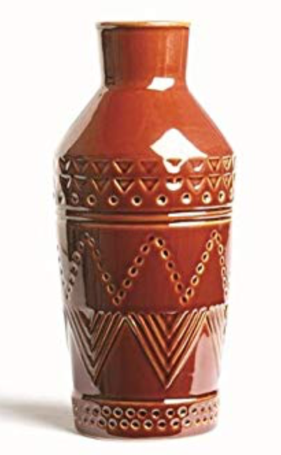 Burnt Sienna Tall Stoneware Vase