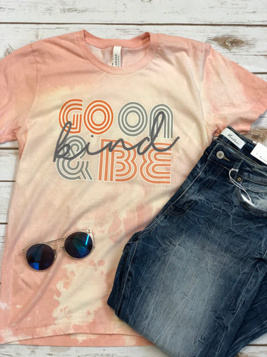 Go on and be kind Bleached Vintage Boyfriend Graphic Tee