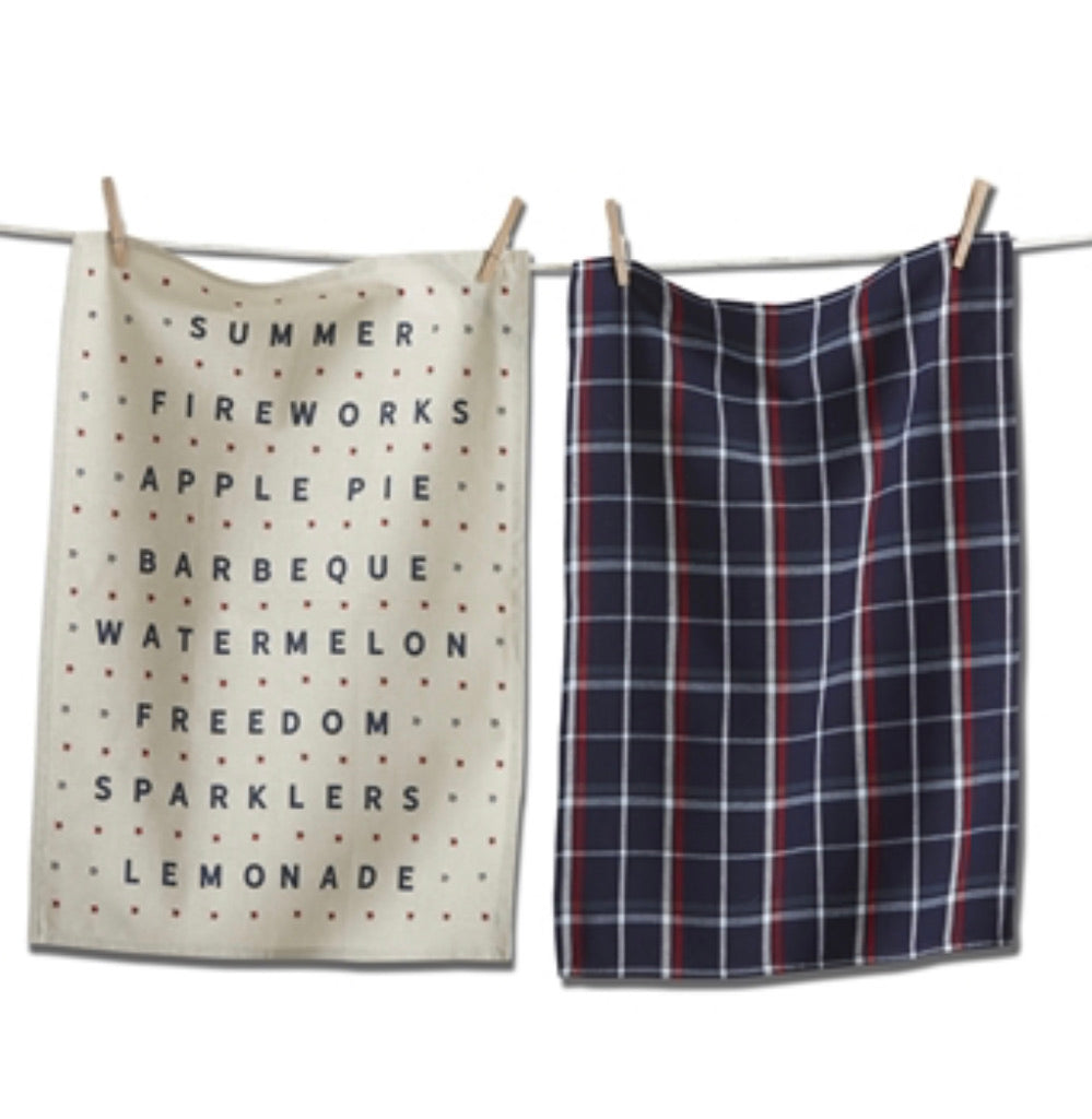 Americana Summer Set of 2 Dishtowels
