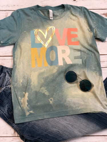 Love More Bleached Vintage Boyfriend Graphic Tee