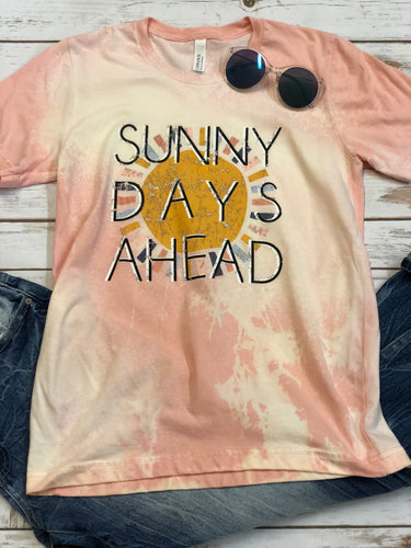 Sunny Days Ahead Bleached Vintage Boyfriend Graphic Tee