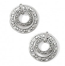 Contempo Open Ring Duo Post Drop Earrings