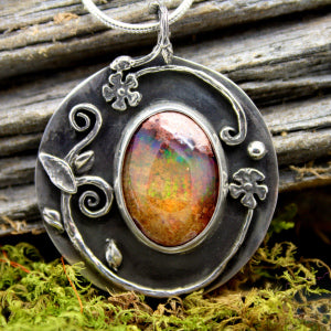 Fire in the Heart $395 Mexican Fire Opal
