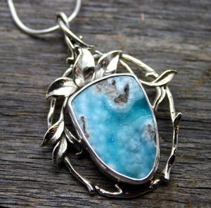 Organic Flow with Hemimorphite Drusy $345