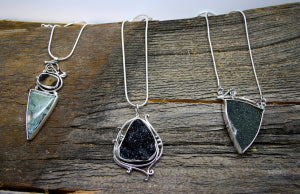 Moss Agate, Agate Drusy, Merlinite
