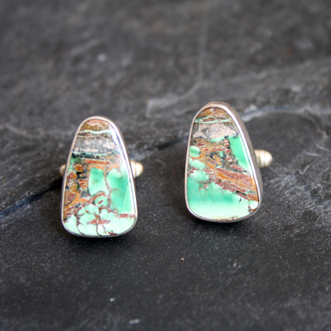 Earthen Glow  matching Cufflinks with Varisite $245