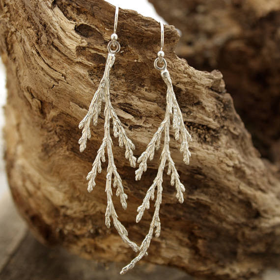 Cedar Branch earrings