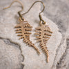 Fern Earrings in Bronze