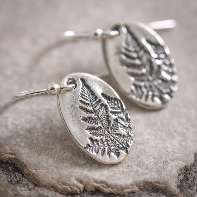 Mini Fern Earrings