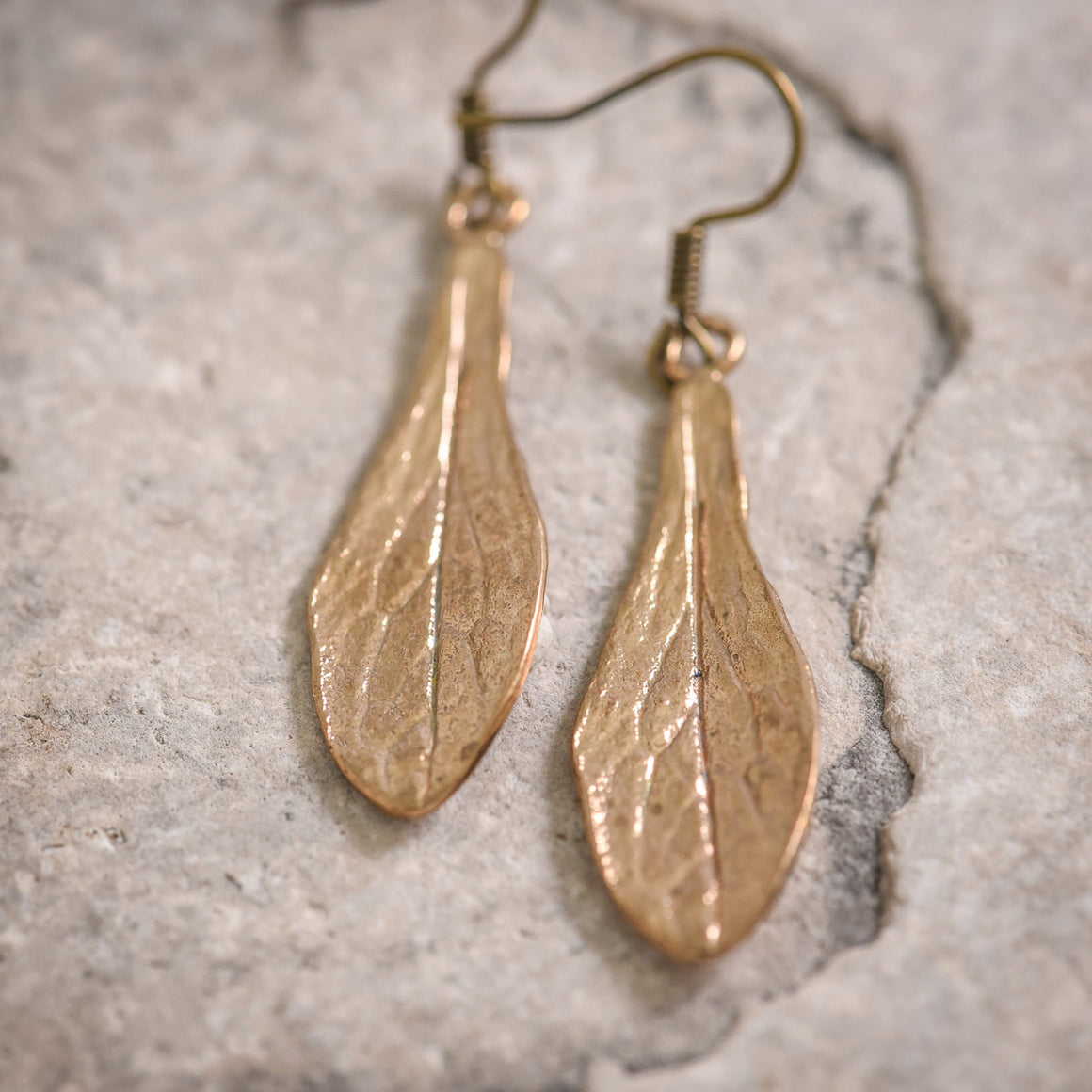Maple Key Earrings in Bronze