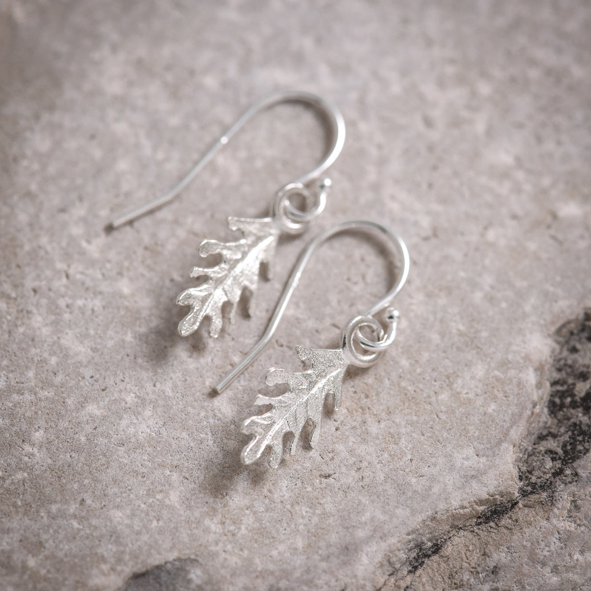 Mini Oak Leaf Earrings