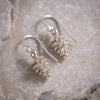 Pine Cone Earrings in Silver