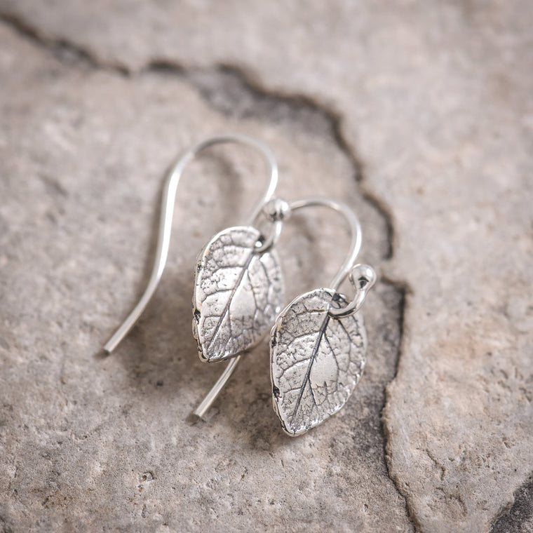 Mini Rose Leaf Earrings