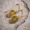Rose Leaf Earrings - Gold Filled