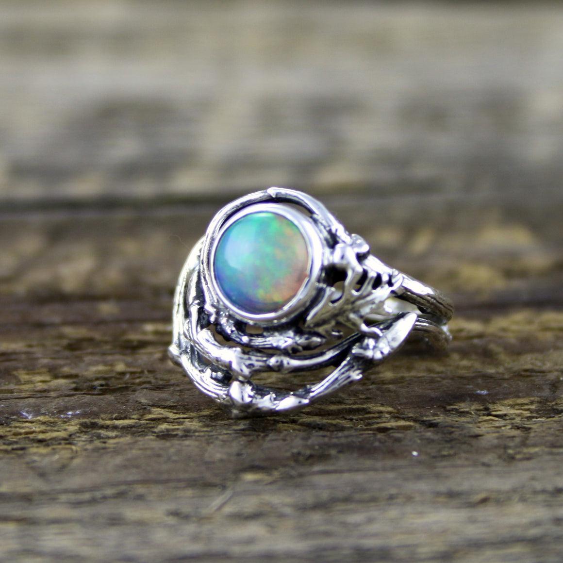 Deep Fire Welo Opal Ring