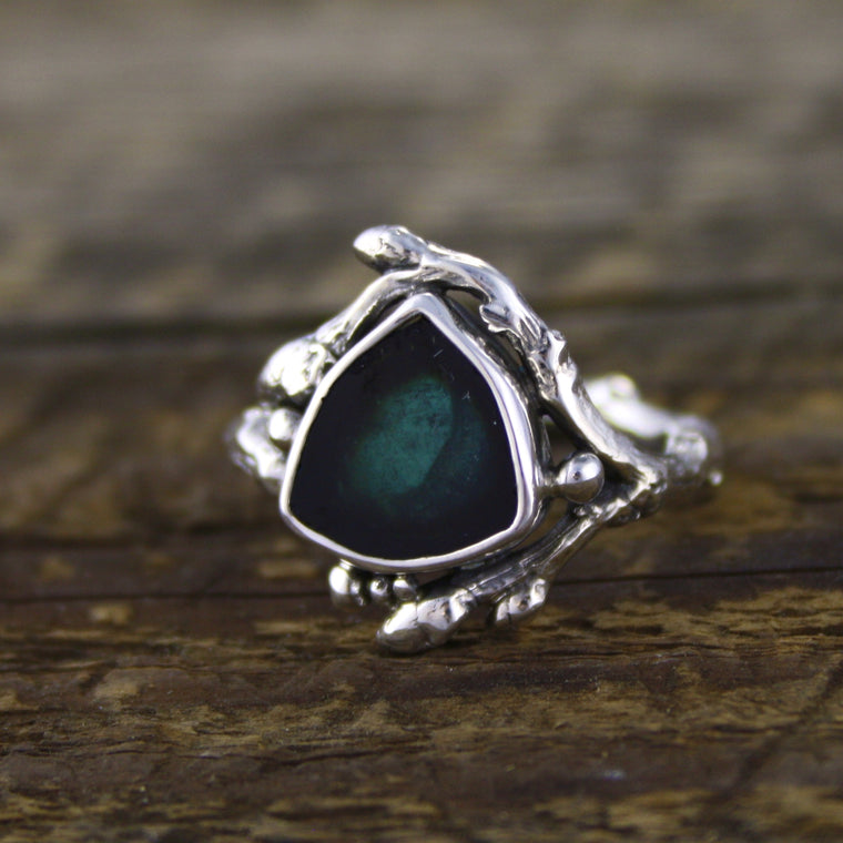 Blue Indicolite Tourmaline Ring