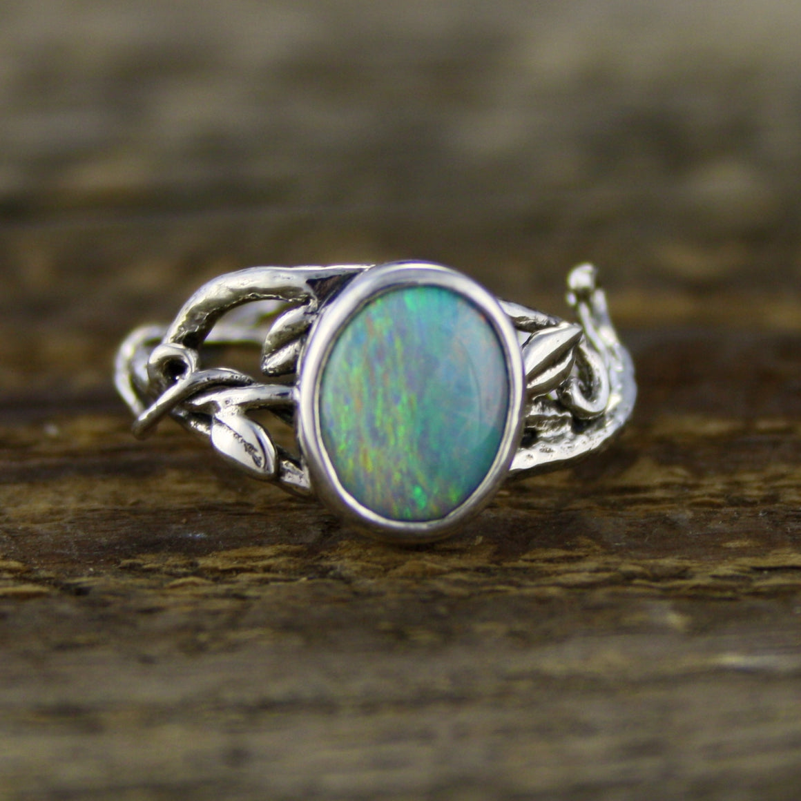 Gorgeous Crystal Opal Fairy Ring