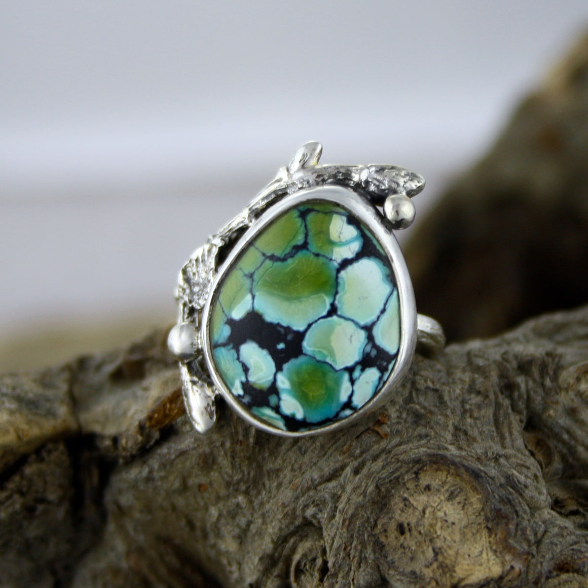 Gorgeous Tibetan Turquoise Branch Ring