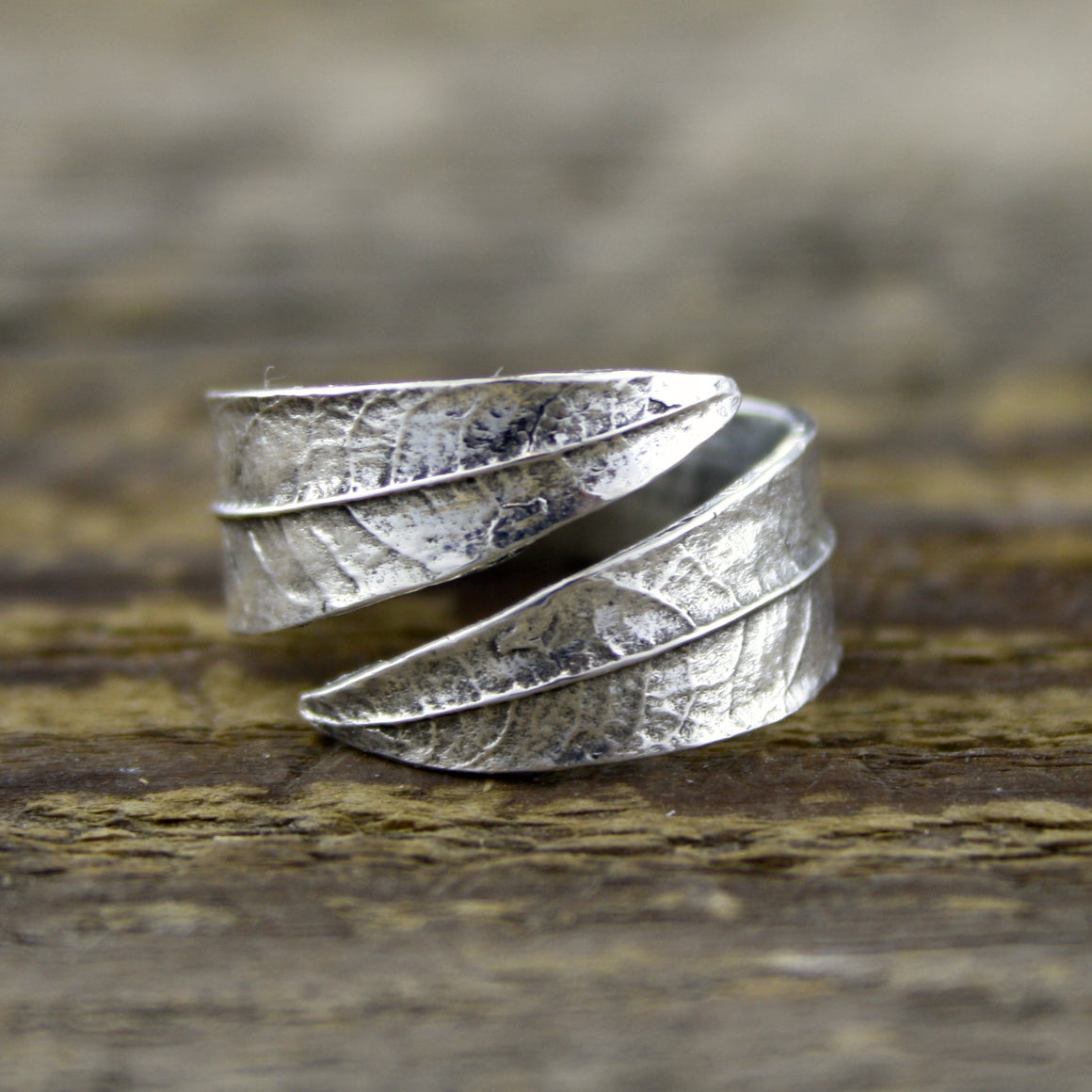 Willow Leaf Ring in Silver