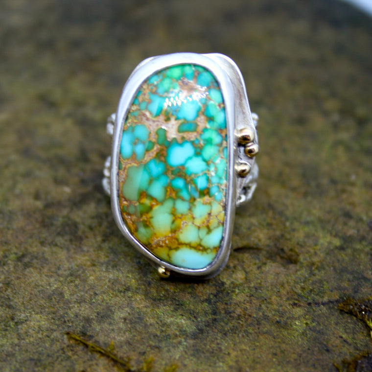 Divine Ring with Royston Turquoise