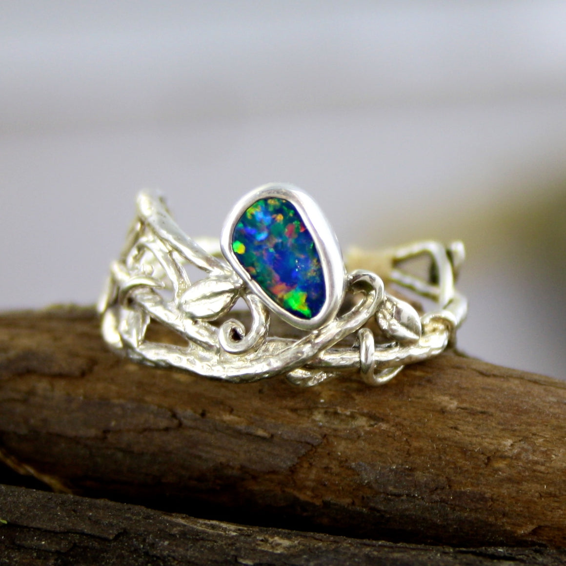 Fairy Elvin Fire Opal Ring