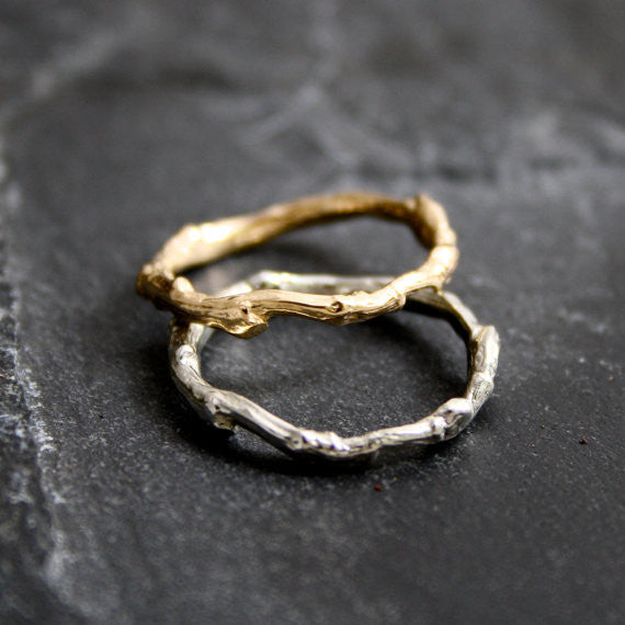 Lovely organic Branch/Twig Wedding band