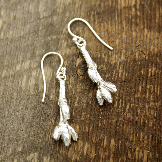 Maple bud earrings