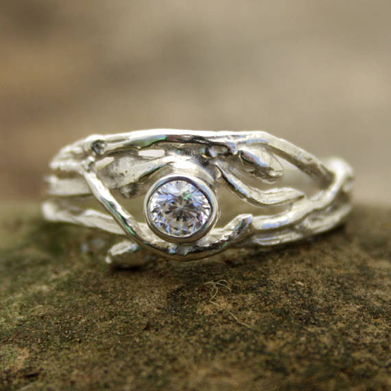 Woodland Branch Engagement Ring with Zirconian
