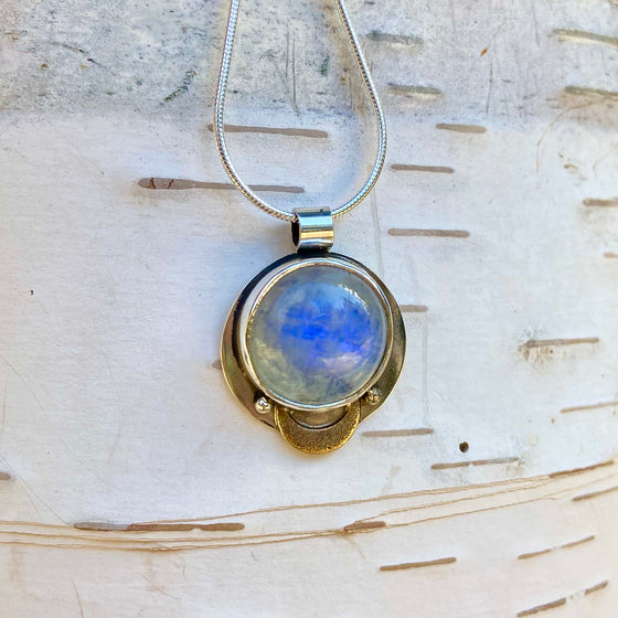 Full Moon Moonstone pendant