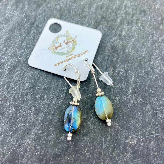 Labradorite earrings