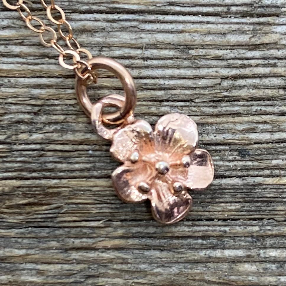 Blossom pendant in Rose Gold Filled