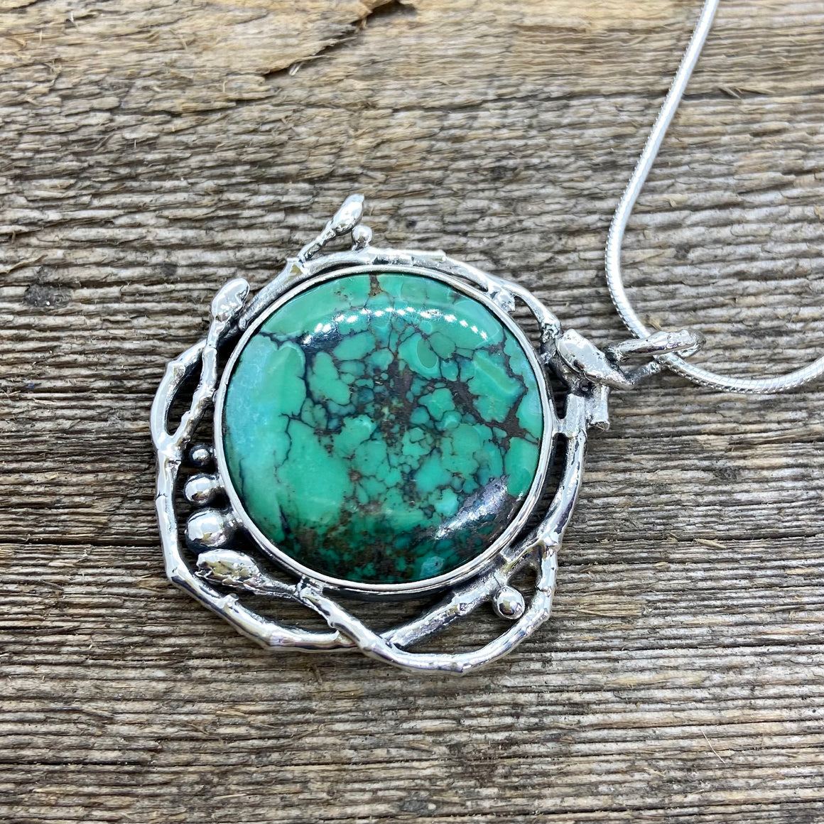 Ground Yourself Turquoise Pendant