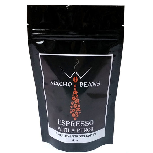 MACHO Premium Blend Coffee Beans, 4 Packs of 4 Oz. Bags