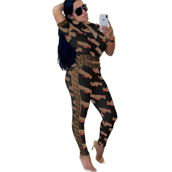 Sexy Letter Print fashionable 2Piece Set (S-XXXL) Ships from China