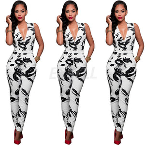 Stylish Black & White Romper Jumpsuit