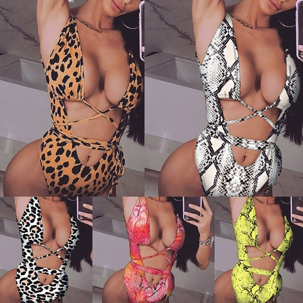 One Piece Animal Printed Bathing Suits