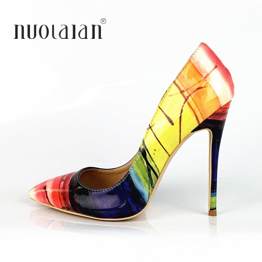 Multi Colored Woman High Heel Pumps (Sizes 4 -11)