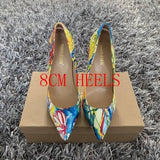 Multi Colored Woman High Heel Pumps ( Sizes 4 - 11)
