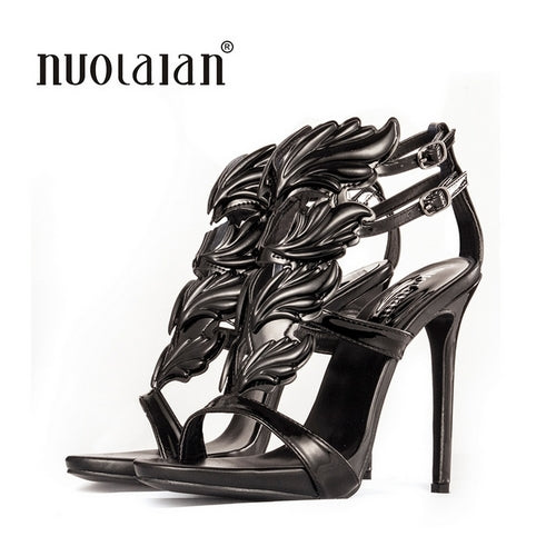 Leaf Flame High Heel Pumps