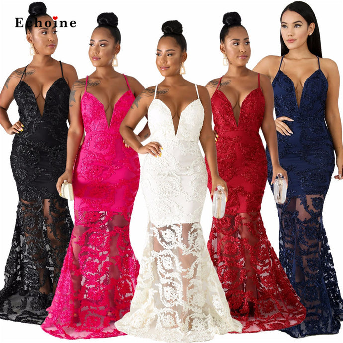 Floor Length Lace Evening  / Wedding Ball Gowns S-XXL