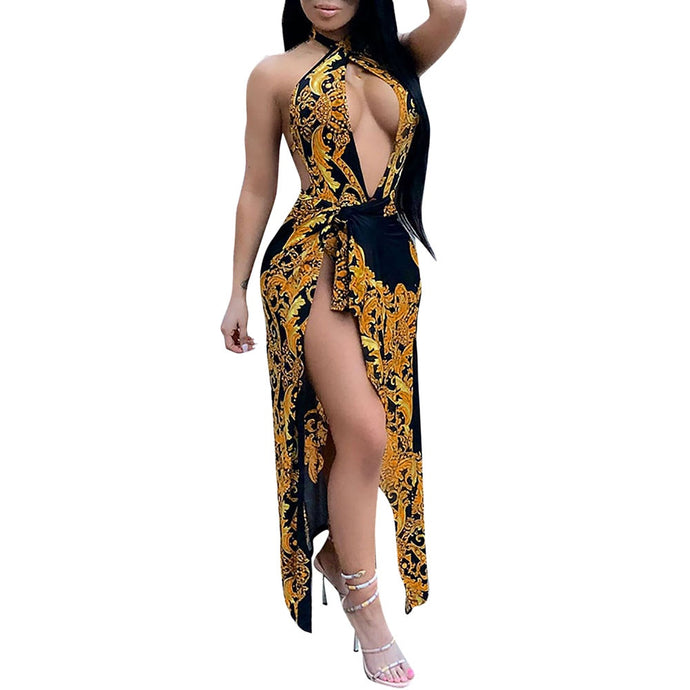Royal Golden Goddess Bathing Suit Set (Sizes:S-XXL)