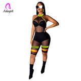 Keep It Right & Tight Mesh Romper (Sizes:S -XXL) Ships From USA
