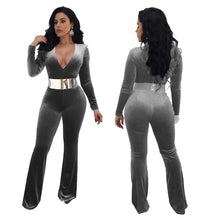 Going To Party Tonight Velour Jumpsuit (S - XXL) Ships From USA or China