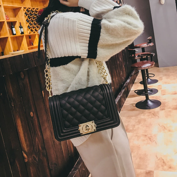 2019 Lattice Designed Women's Glam Bag