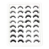 Eye Catching 16 Pairs 3D HandMade Mink Eyelashes Book Set