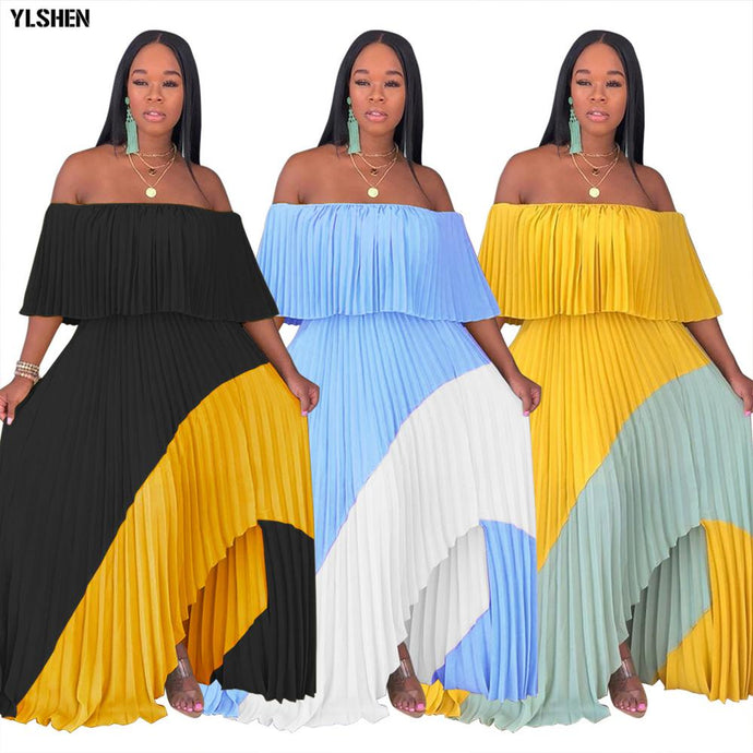 Stay Blessed Sexy Off the Shoulder, Chiffon Dress (Size:S-XXL)Ships from China