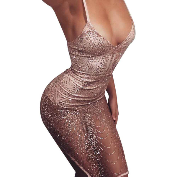Sparkle & Shine Mesh Mini Dress (S-XL) Ships from:USA or China