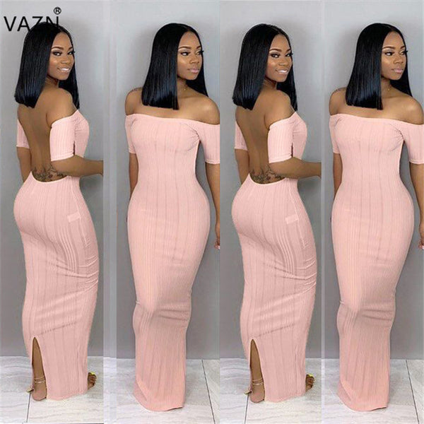 Sexy Backless Ankle Length Dress (Sizes: S- 2XL)