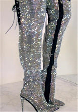 Luxurious Rhinestone Pointed Over The Knee Boots