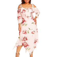 Elegant Off The Shoulder Maxi Dress (Sizes XL-5XL)